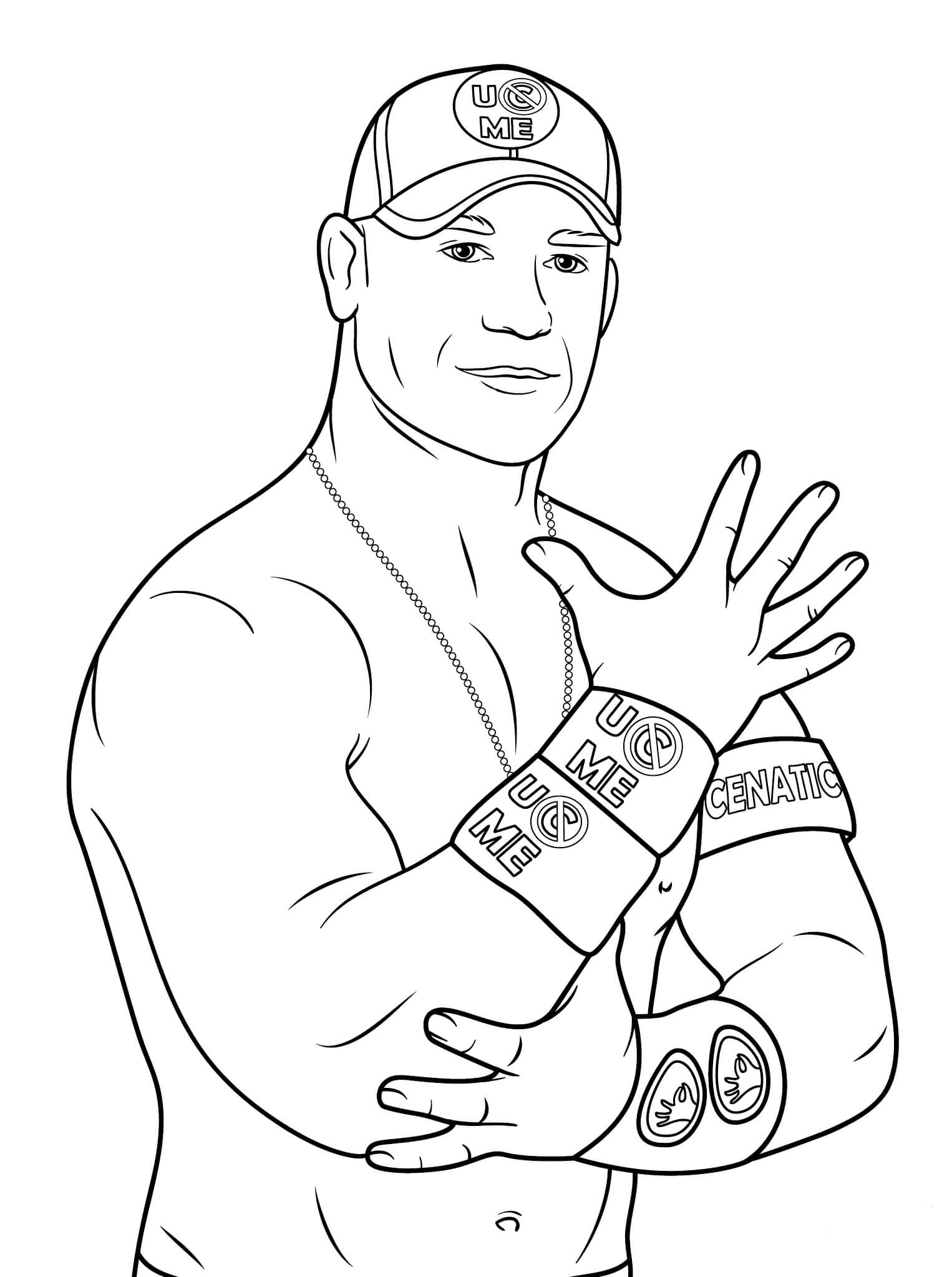 Desenhos de John Cena Fresco para colorir