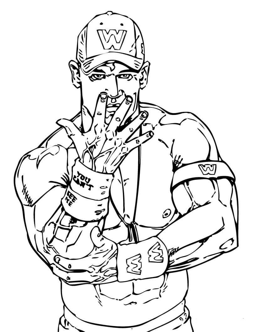 Desenhos de John Cena para colorir