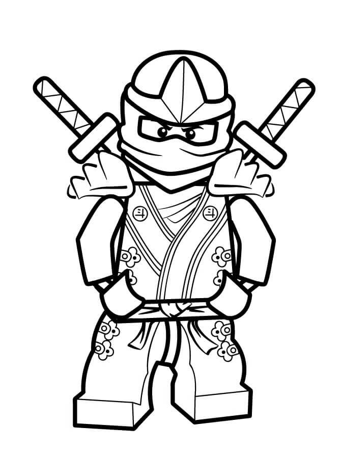 Desenhos de Lego Ninjago para colorir