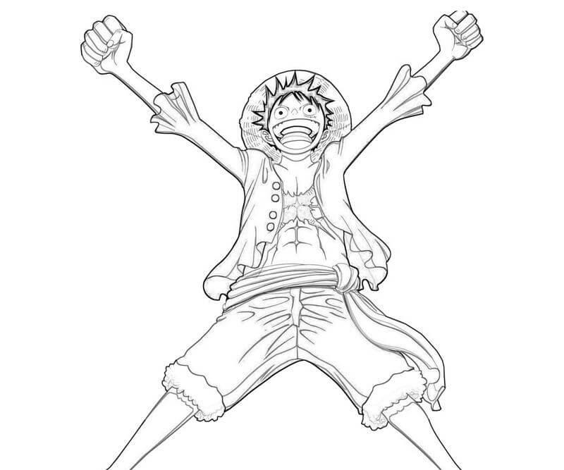 Desenhos de Luffy Feliz para colorir