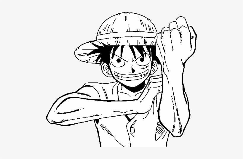 Desenhos de Luffy Triste para colorir