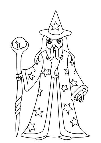 Desenhos de Mago Alto para colorir