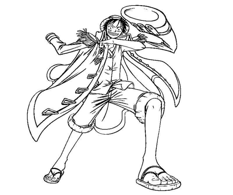Desenhos de Monkey D Luffy para colorir