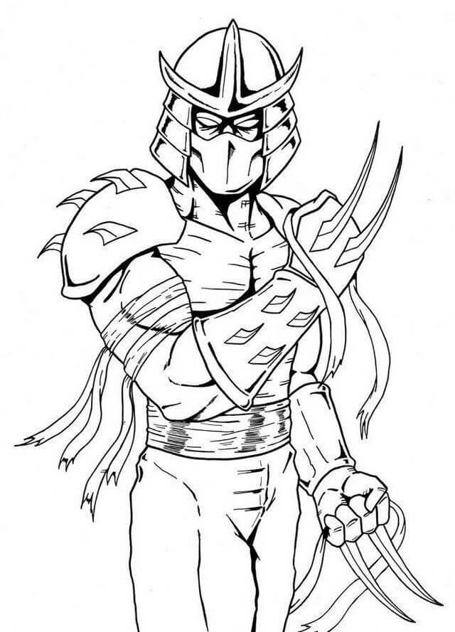 Desenhos de Ninja Fresco para colorir