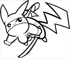 Desenhos de Ninja Pikachu para colorir