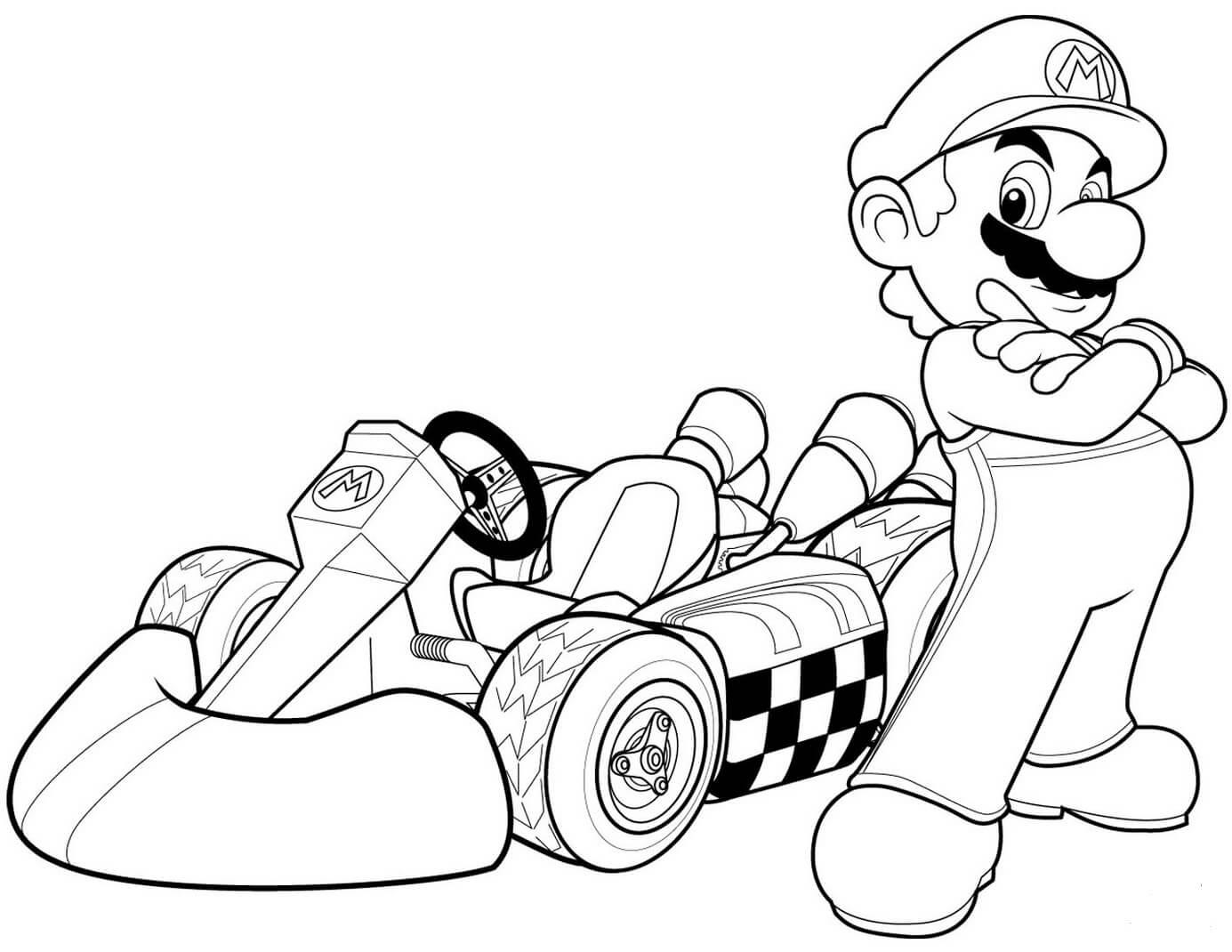 Desenhos de Niño De Carreras, Mario para colorir