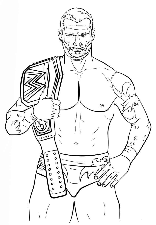 Desenhos de Randy Orton para colorir