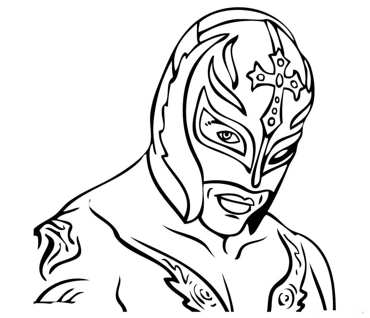 Desenhos de Rey Mysterio para colorir
