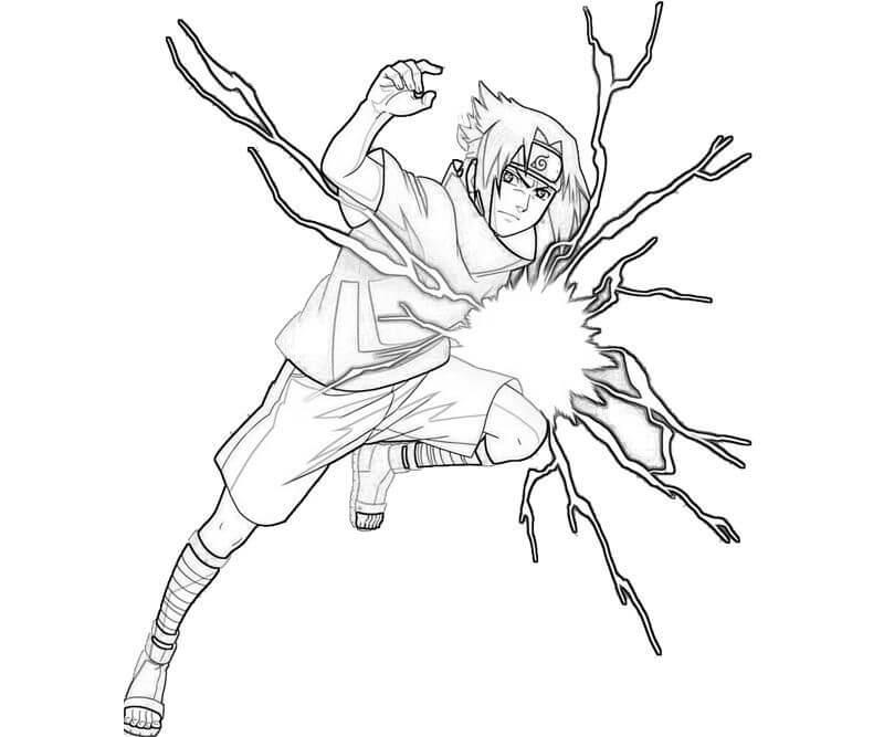 Desenhos de Sasuke Chidori para colorir