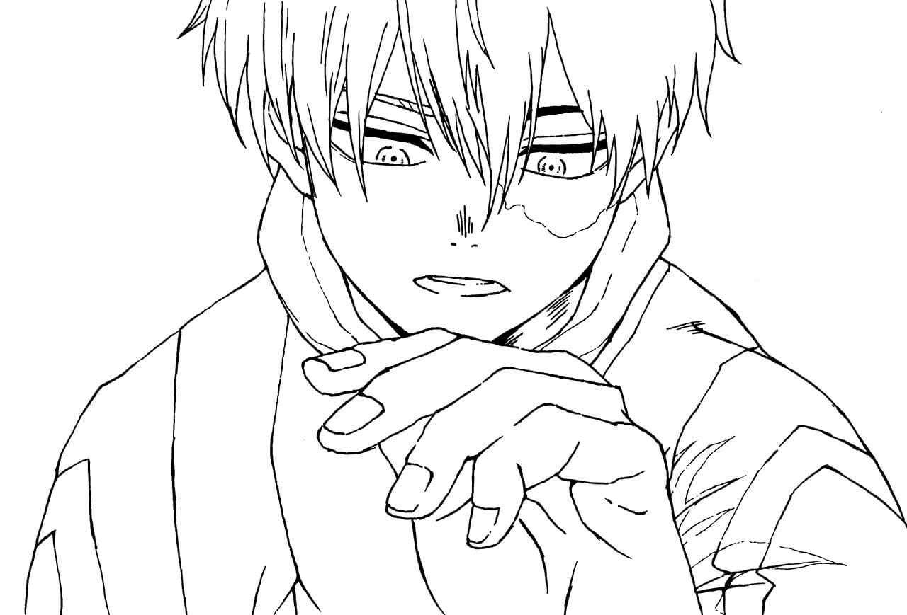 Desenhos de Todoroki Shoto para colorir