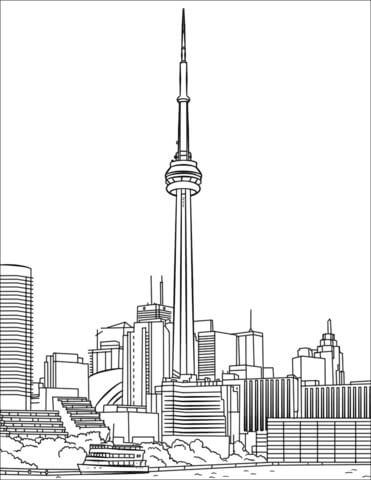 Desenhos de Torre CN Toronto para colorir