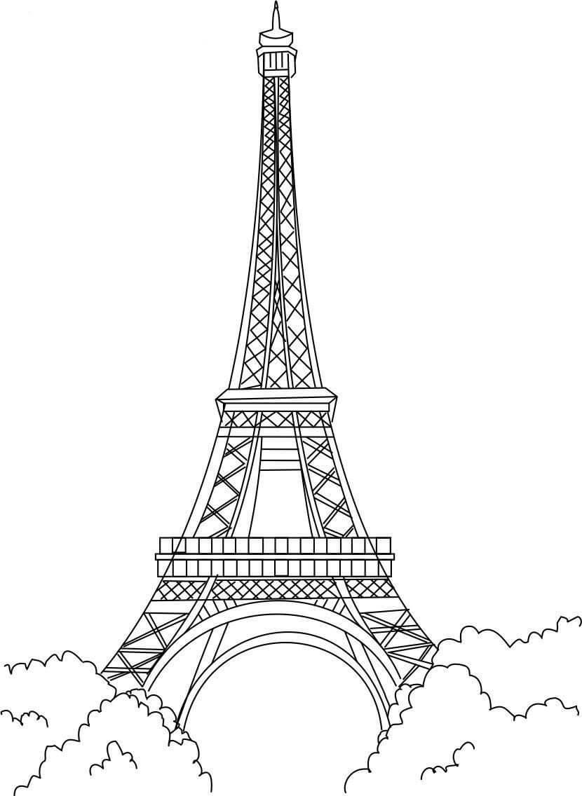 Desenhos de Torre Eiffel para colorir