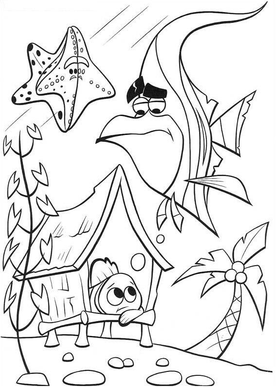 Desenhos de Triste Nemo para colorir