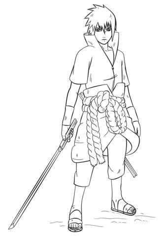 Desenhos de Uchiha Sasuke para colorir