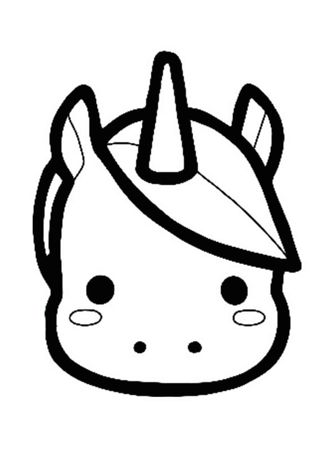 Desenhos de Unicorn Emoji para colorir