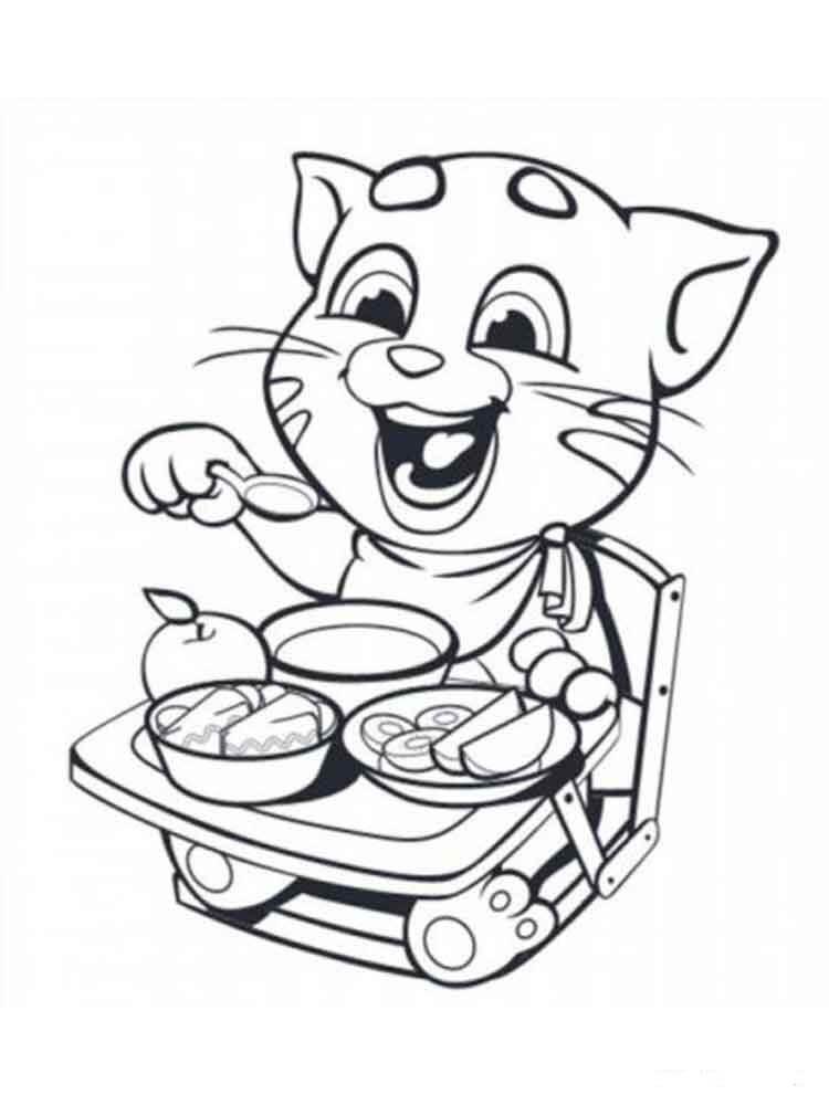 Desenhos de Almoçando Com O Tom para colorir