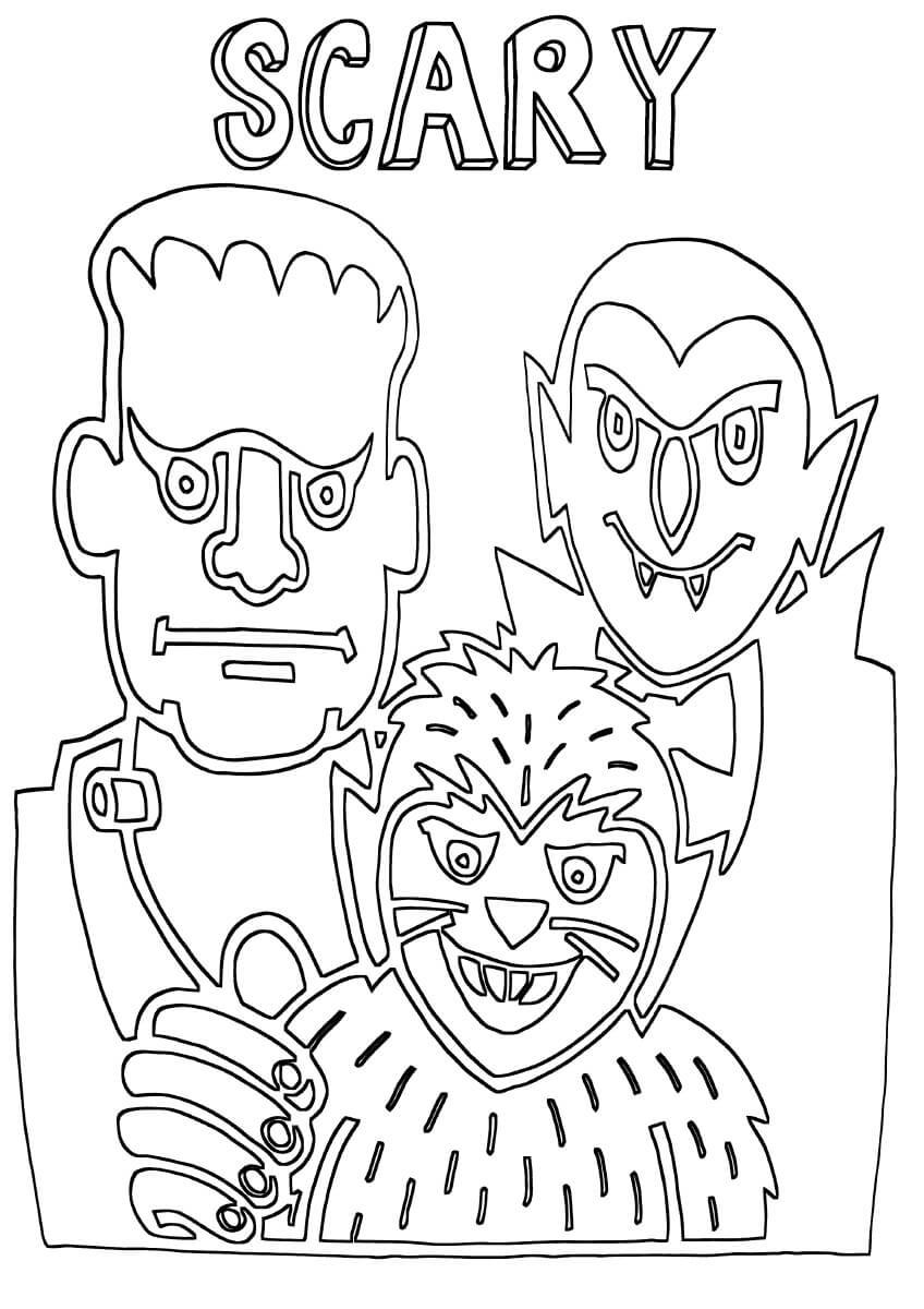 Desenhos de Amigo Assustador para colorir