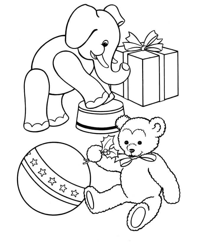 Desenhos de Animal De Brinquedo para colorir