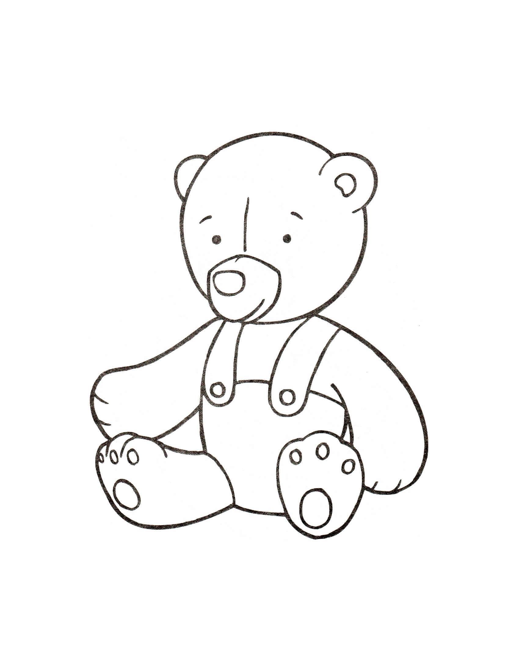Desenhos de Brinquedo Bebê Urso para colorir
