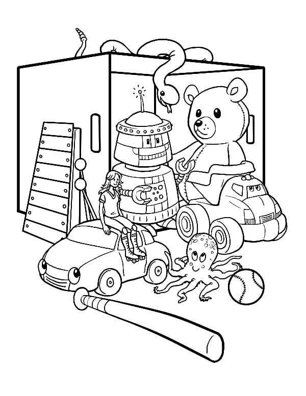 Desenhos de Brinquedo Fofo para colorir
