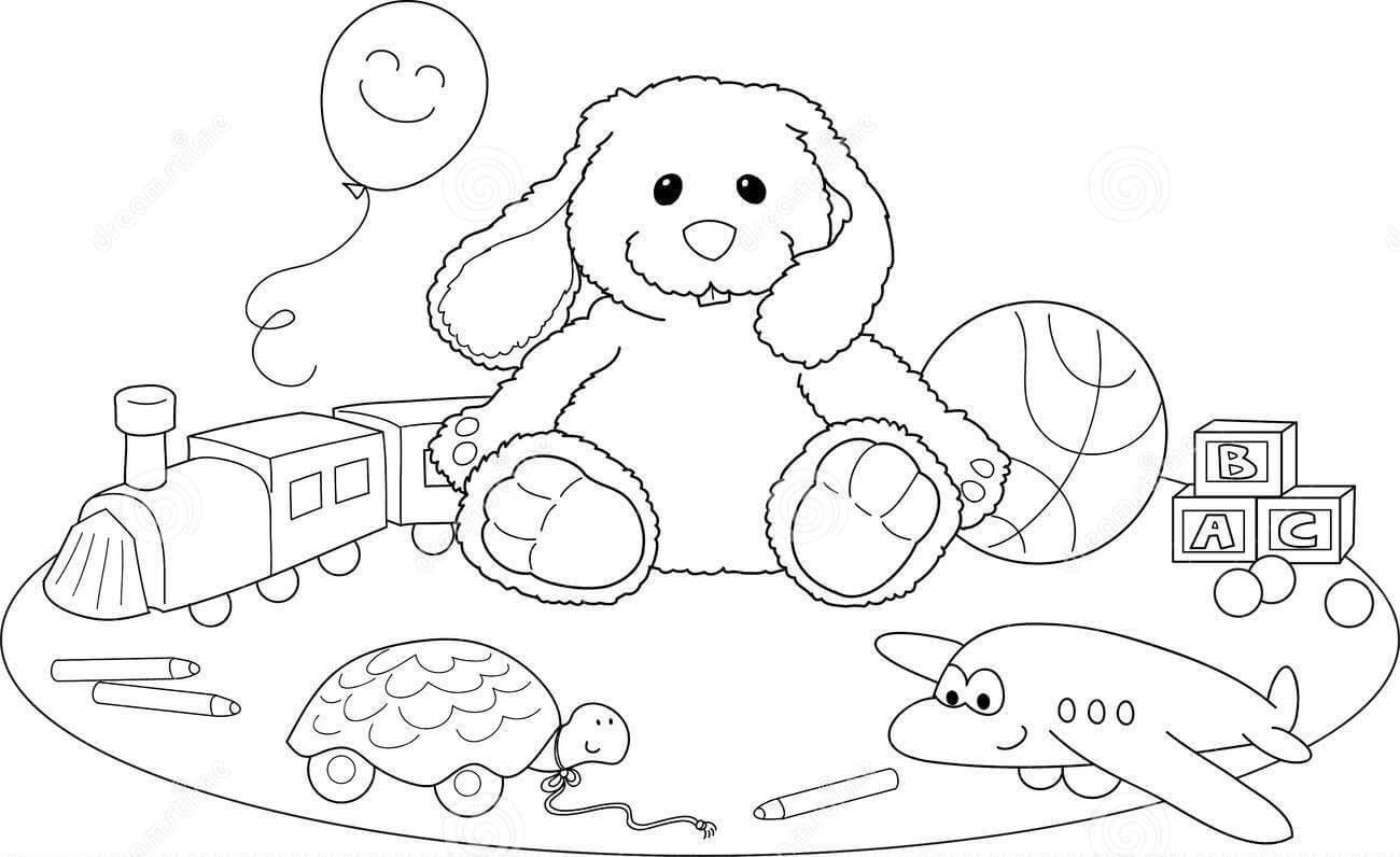 Desenhos de Brinquedo Kawaii para colorir