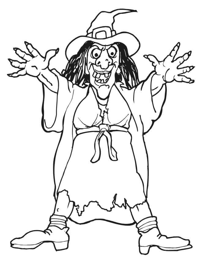 Desenhos de Bruxa Getchya para colorir