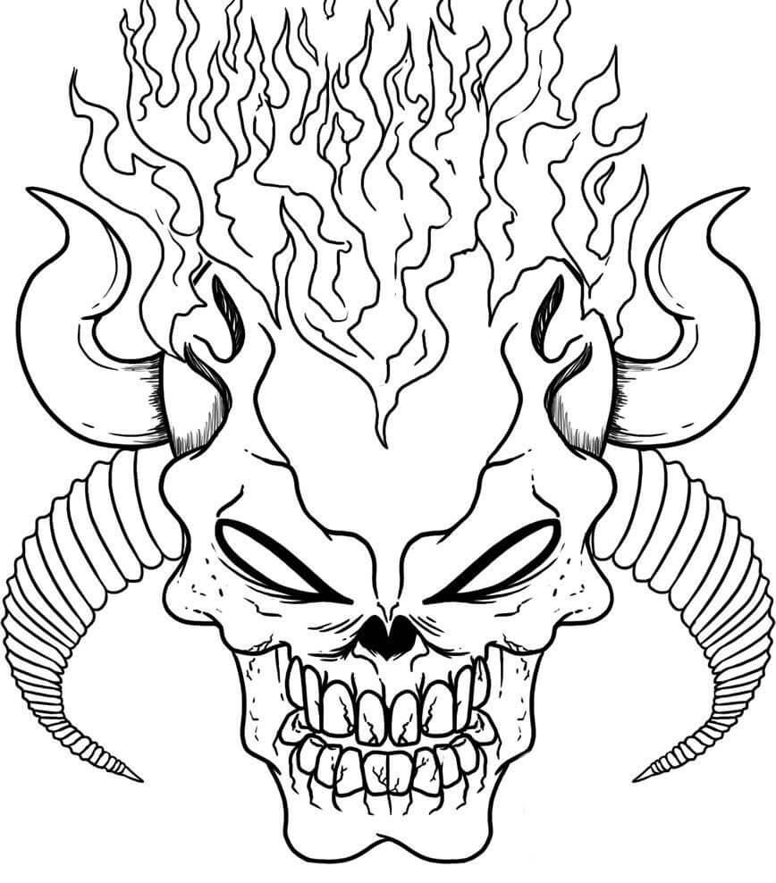 Desenhos de Búfalo Assustador para colorir