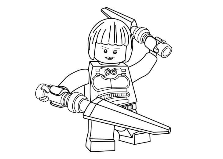 Desenhos de Cara Lego Ninja para colorir