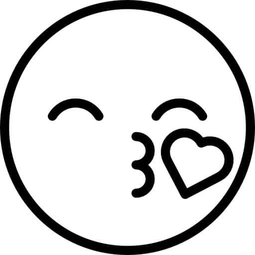Desenhos de Cara Que Manda Um Beijo para colorir