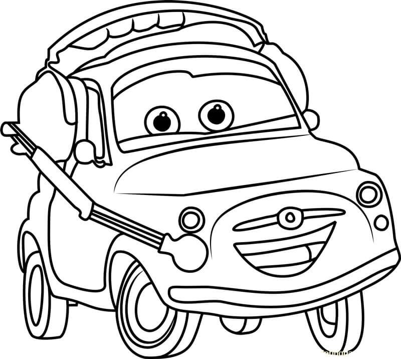 Desenhos de Carro Luigi 3 para colorir