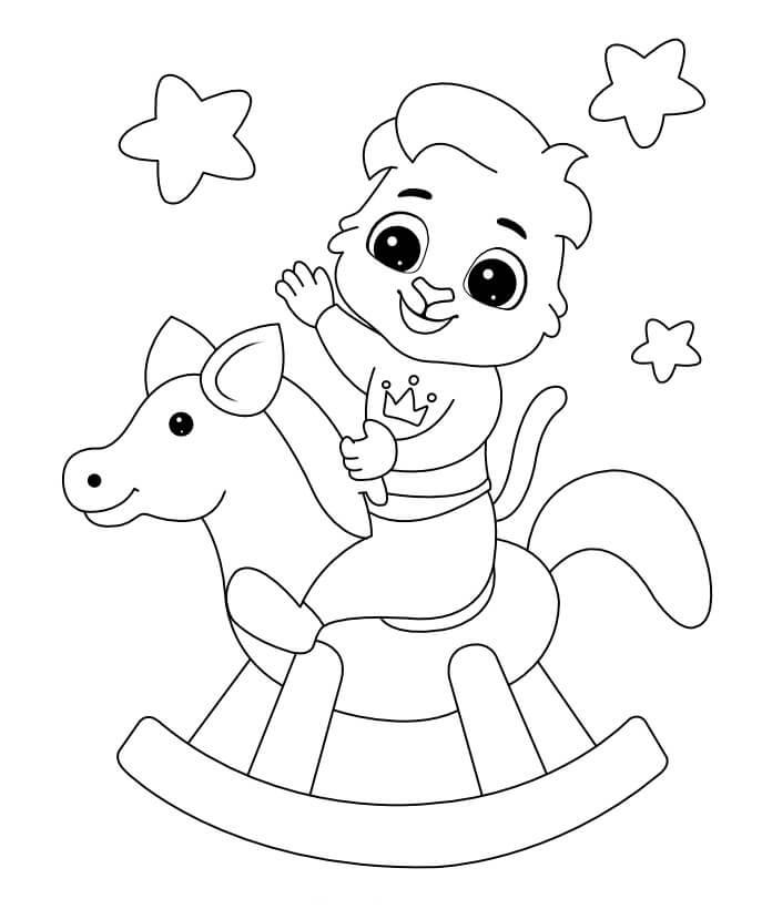 Desenhos de Cavalo De Madeira para colorir