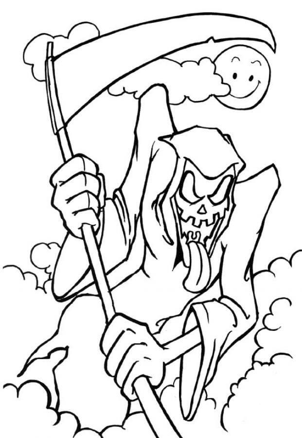 Desenhos de Ceifador Assustador para colorir