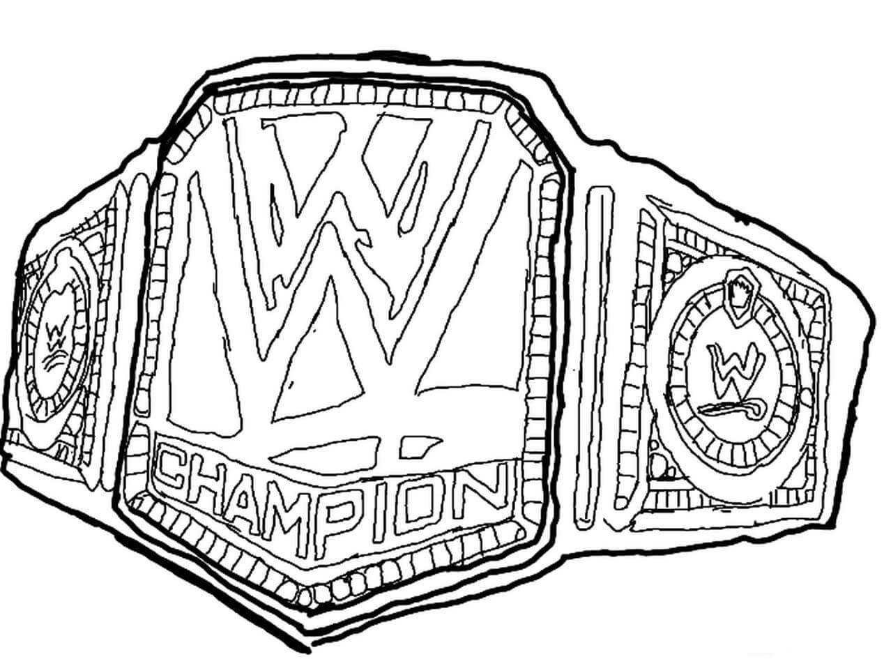 Desenhos de Cintos WWE para colorir