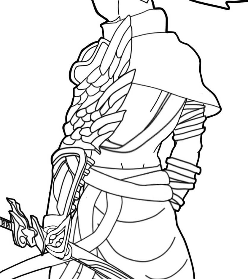 Desenhos de Corpo De Yasuo para colorir