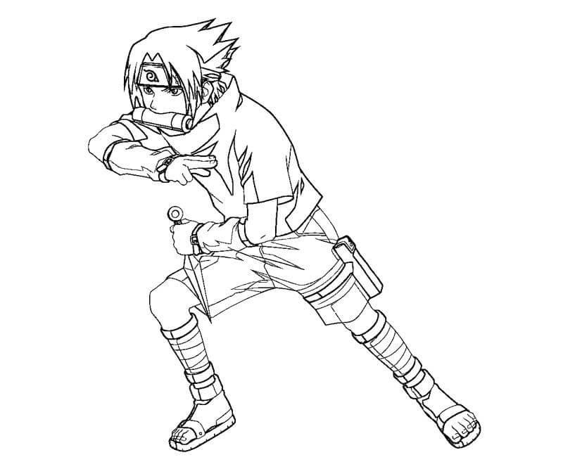 Desenhos de Criança Sasuke para colorir