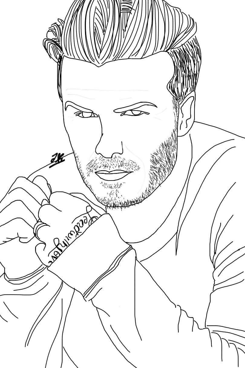 Desenhos de David Beckham Bonito para colorir