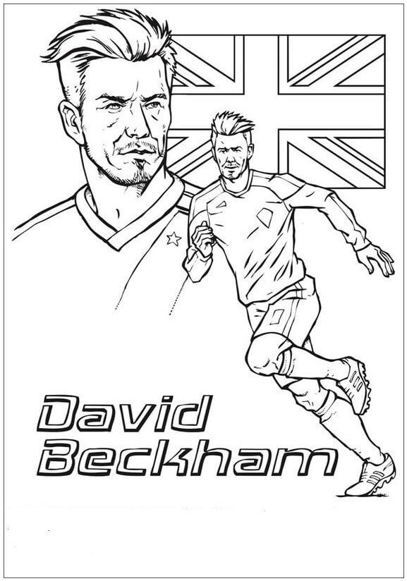 Desenhos de David Beckham Com Pressa para colorir