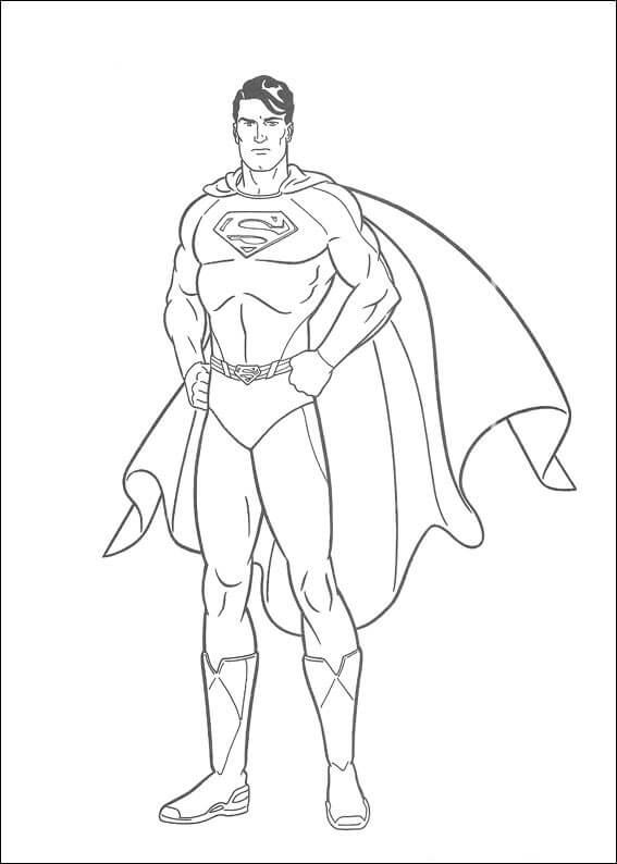 Desenhos de DC Super Homen para colorir