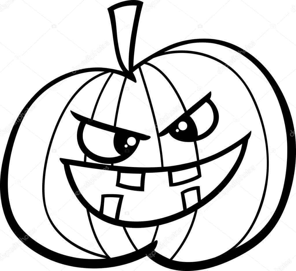 Desenhos de Desenho Animado Jack o 'Lantern para colorir