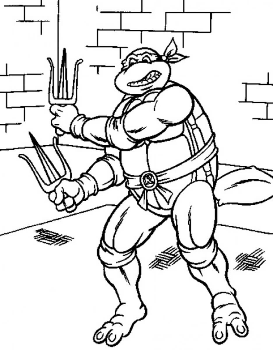 Desenhos de Desenho De Tartarugas Ninja para colorir