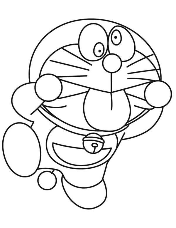 Desenhos de Doraemon Engraçado para colorir