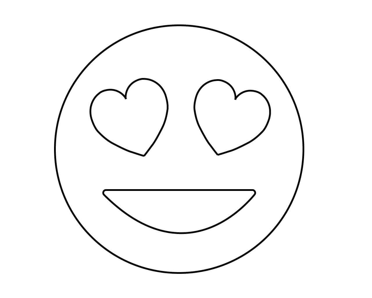 Desenhos de Emoji Adorável para colorir