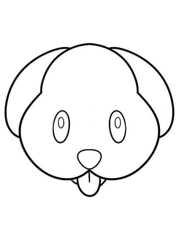 Desenhos de Emoji De Cachorro para colorir