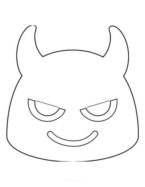 Desenhos de Emoji De Demônio para colorir