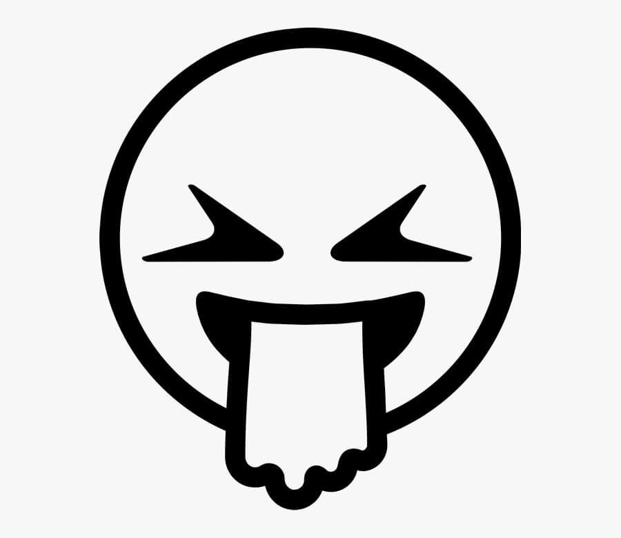 Desenhos de Emoji De Vômito para colorir