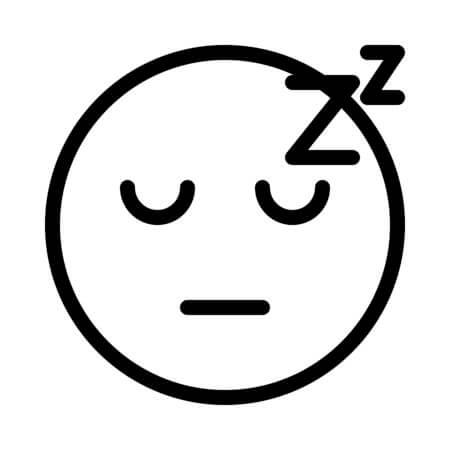 Desenhos de Emoji Dormindo para colorir