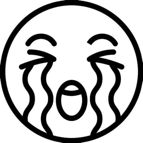 Desenhos de Emoji Triste para colorir