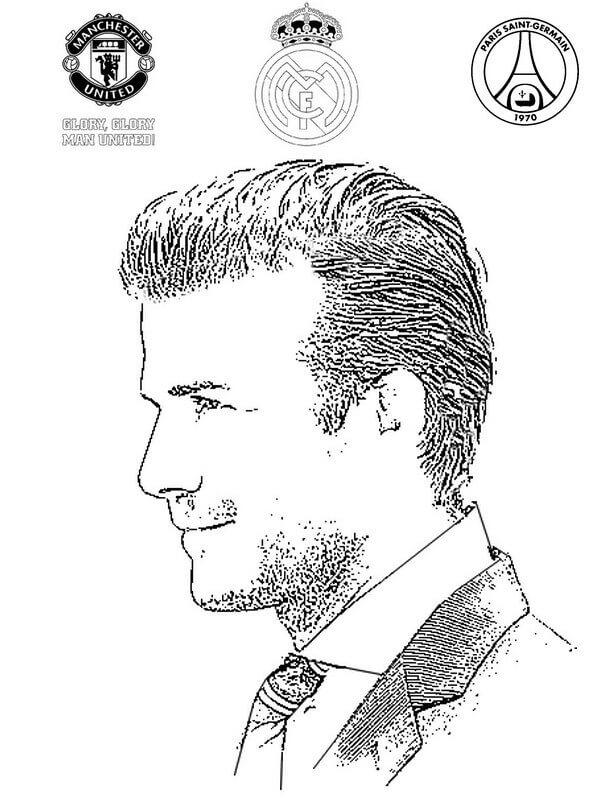 Desenhos de Enfrentar David Beckham para colorir