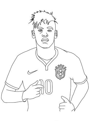Desenhos de Enfrentar O Neymar para colorir