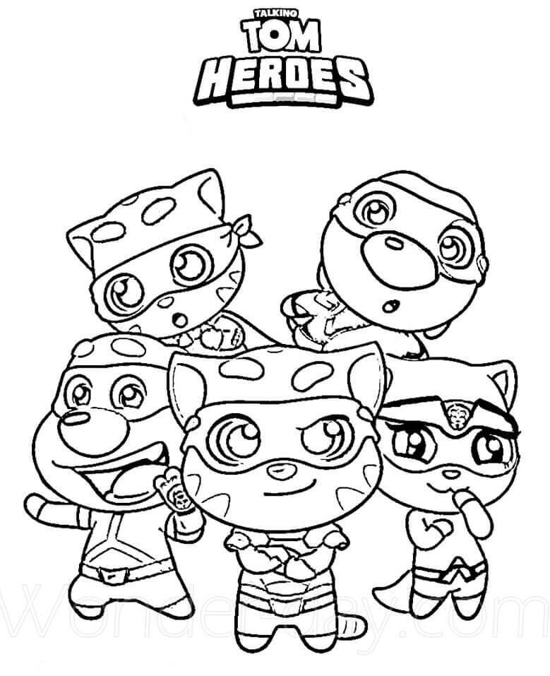 Desenhos de Equipe Falando Héroes para colorir